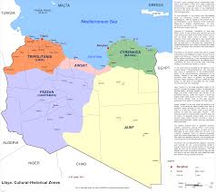 Map Of Libya Libya Cultural And Historical Zones By Vah Vah On Deviantart