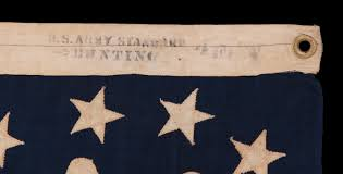 American Flag 1845 Jeff Bridgman Antique Flags And Painted Furniture Antique
