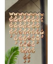 monarch copper cascading butterflies wind art wind chimes 42 x 24