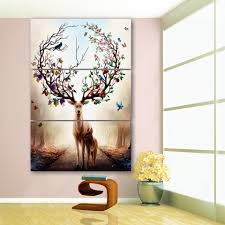 Wall Art Home Decor Online Get Cheap Elk Wall Art Aliexpress Com Alibaba Group