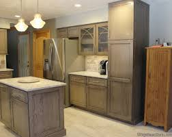 gray brown stained kitchen cabinets warm gray oak kitchen with cambria quartz home