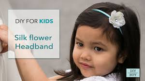 silk headband diy for kids silk flower headband