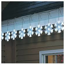 snowflake lights sylvania cool white led snowflake string lights 10 light v79178