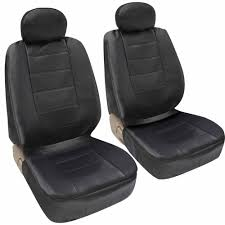 motor trend synthetic leather car seat covers front pair set of 2