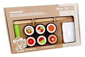 jeu de cuisine sushi amazon com makemaki sushi multicolor toys