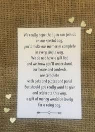 wedding money poem polite way of asking for money rather than