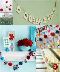 paper and fabric garland ideas for the holidays handmadeology