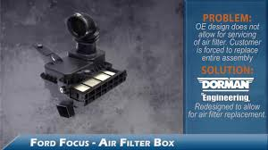 dorman 05 07 ford focus air filter box installation video o