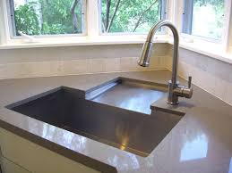 corner sinks for kitchen innovative corner sink idea drainboard to rear sink fabricated