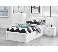 Cheap Bedroom Furniture Brisbane Bedroom Rockhton White Gloss Gaslift Bed In Bedroom