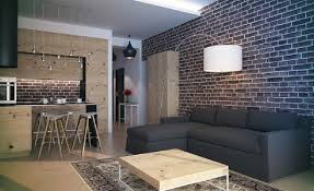 Nice Livingroom by Interior Designs Living Room Brick Walls Design With Nice Modern