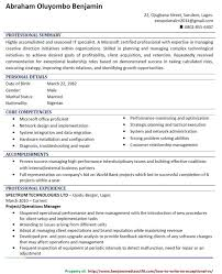 Sample Of Resume In Canada by How To Quickly Write A Catchy Cv Picture Jobs Vacancies Nigeria