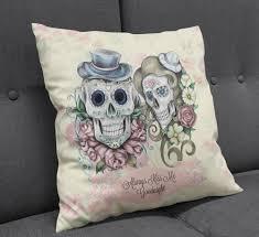 modern mysterious skull pillow u2014 great home decor