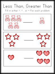 greater than less than worksheet for kindergarten less than greater than worksheets
