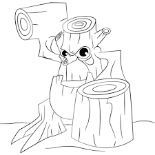 stump smash skylander coloring page free printable coloring pages