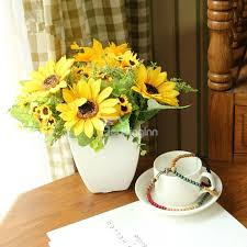 Artificial Sunflowers European Country Style Artificial Sunflowers Desktop Flower Sets