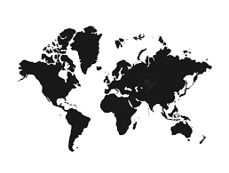 World Map Black And White Worldwide Map Clip Art U2013 Clipart Free Download