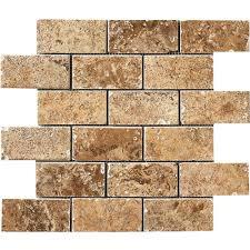 Shower Floor Mosaic Tiles by Marazzi Montagna Belluno Noce 12 In X 12 In X 8mm Porcelain