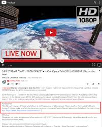 nasa put a disclaimer on their live youtube stream