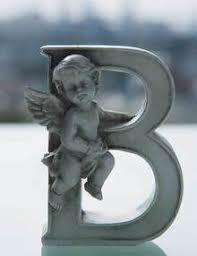 grave ornaments cherub alphabet letter o cherub alphabet