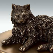 cat urn hair cat figurine cremation urn engravable