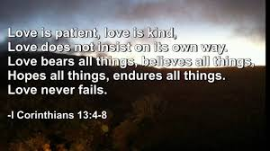 bible quote gifts talents love is patient love is kind bible quote youtube