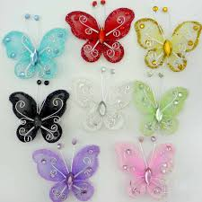Diy Butterfly Decorations by Aliexpress Com Buy Free Shipping 50pcs Mixed Organza Wire