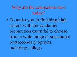 how can i finish high school why are the counselors here today to assist you in finishing high