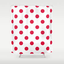 Red Polka Dot Curtains Crimson Red Shower Curtains Society6
