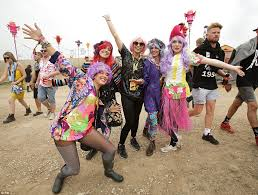 bestival revellers turn out in fancy dress as weekend looks set to