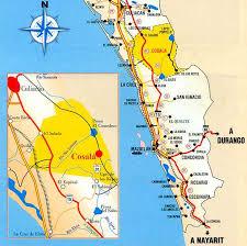 sinaloa mexico map tour by mexico cosala in sinaloa state mexico
