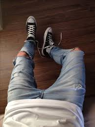 Ripped Knee Jeans Mens Best 25 Ripped Jeans Men Ideas On Pinterest Ripped Jeans Mens