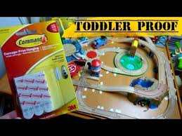 how to toddler proof wooden train tracks on table don u0027t glue or