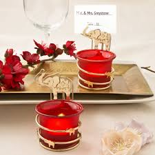indian wedding favors from india gold and elephant candle favors wedding favors indian