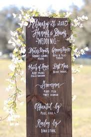 Wedding Program Board This Editor Married In Total Style Hummingbird Nest Ranch