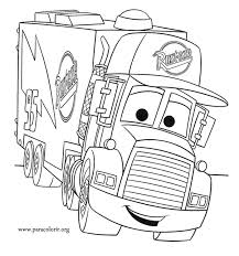 cars movie mack truck coloring