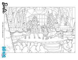 barbie u0027s christmas show coloring pages hellokids