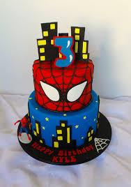 Dragon Ball Z Cake Decorations by Two Tier Spiderman Themed Birthday Cake Birthday Cake Design