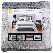 Mainstay Comforter Sets Mainstays 7 Piece Comforter Set Silver Stripe U2013 675716965440 Best