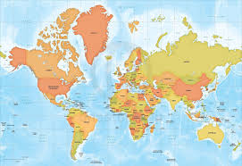 Maps Of World Com by Vector Map World Mercator Europe Sci Fi One Stop Map