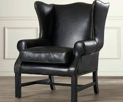 Restoration Hardware Recliner Leather Wingback Chair Tahrirdata Info