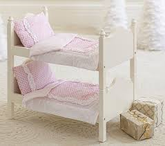 Bunk Bed For Dolls Doll Bunk Bed Bedding Pottery Barn