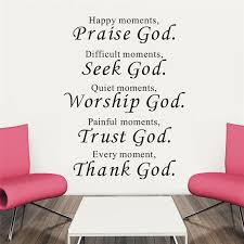 praise seek worship trust and thank god wall stickers letters