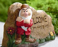 filmic light snow white archive resin welcome rocks garden statue