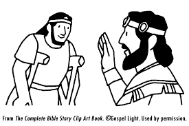 david and mephibosheth coloring page bible class united kingdom