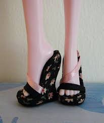 coloring fancy monster wedges barbie shoes doll