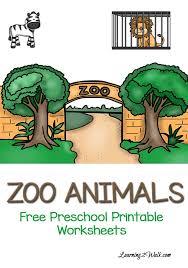 free zoo animals preschool printable worksheets zoo animals