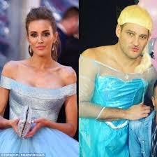 brendan fevola dresses frozen u0027s elsa mocking rebecca judd u0027s