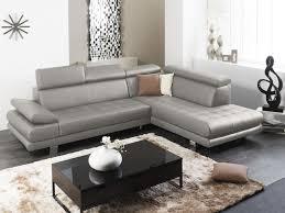 canapé d angle en cuir gris canapé d angle personnalisable en cuir italien effleurement