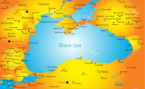 Aral Sea Map Vector Map Of Black Sea Region Royalty Free Cliparts Vectors And